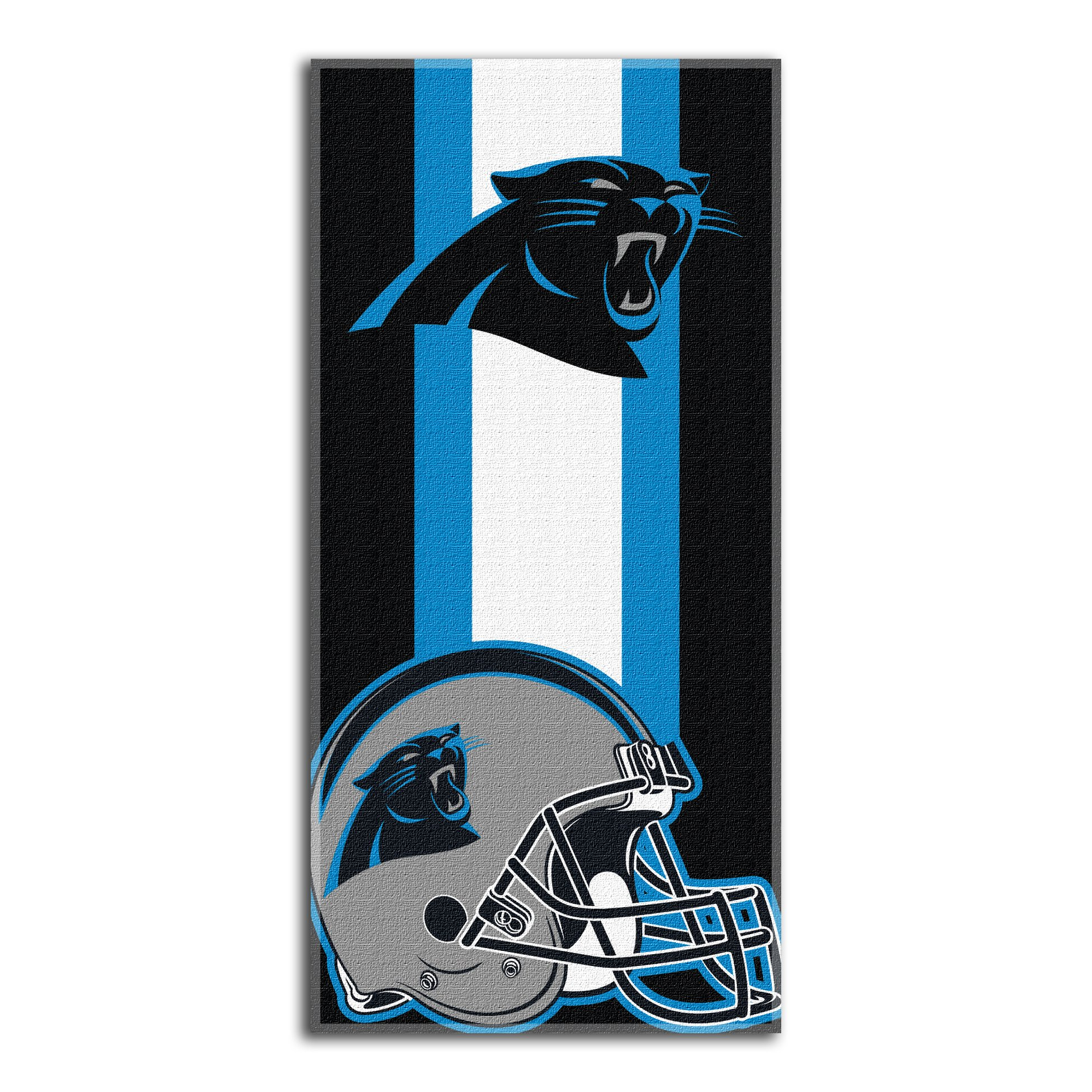 The Northwest Company Officially Licensed NFL Carolina Panthers Zone Read Beach Towel, 30'' x 60''