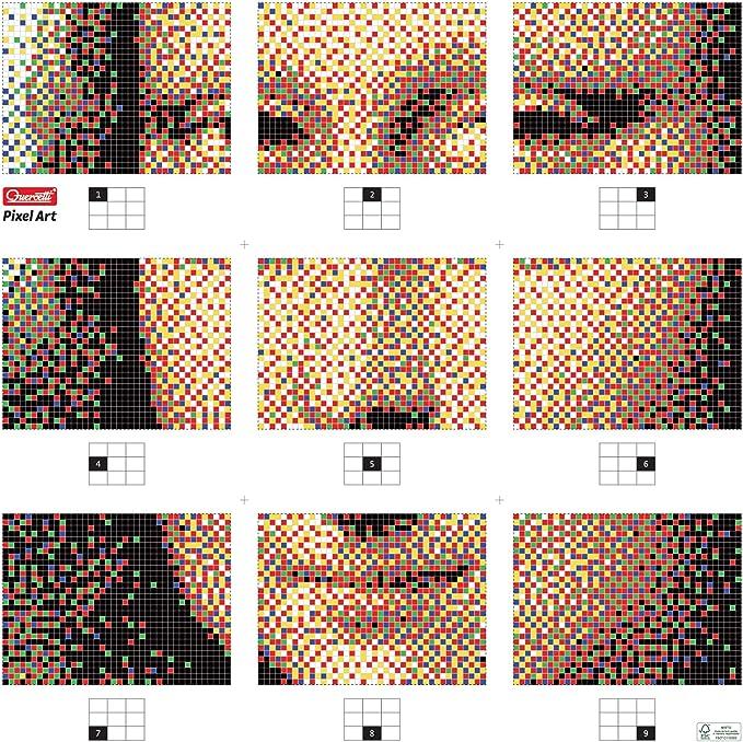 Quercetti 0809 Pixel Art 9 Tavolette Chiodini