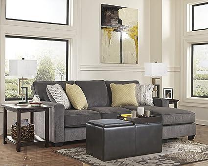 amazon com ashley hodan 7970018 93 inch sofa chaise with pillows