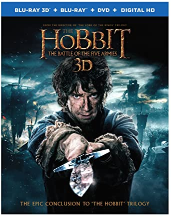 Amazon com: Hobbit, The: The Battle of the Five Armies (3D Blu-ray +