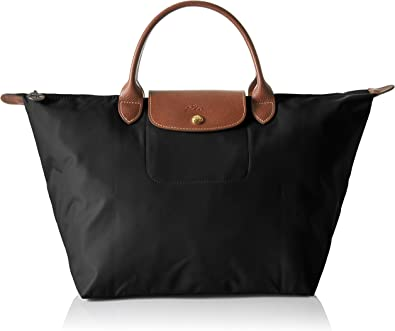 more photos cheap prices uk cheap sale Longchamp Women's Le Pliage Medium Handbag, Black: Handbags ...