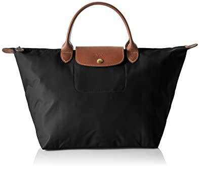 40aa7e53fa Longchamp Women's Le Pliage Medium Handbag, Black: Handbags: Amazon.com