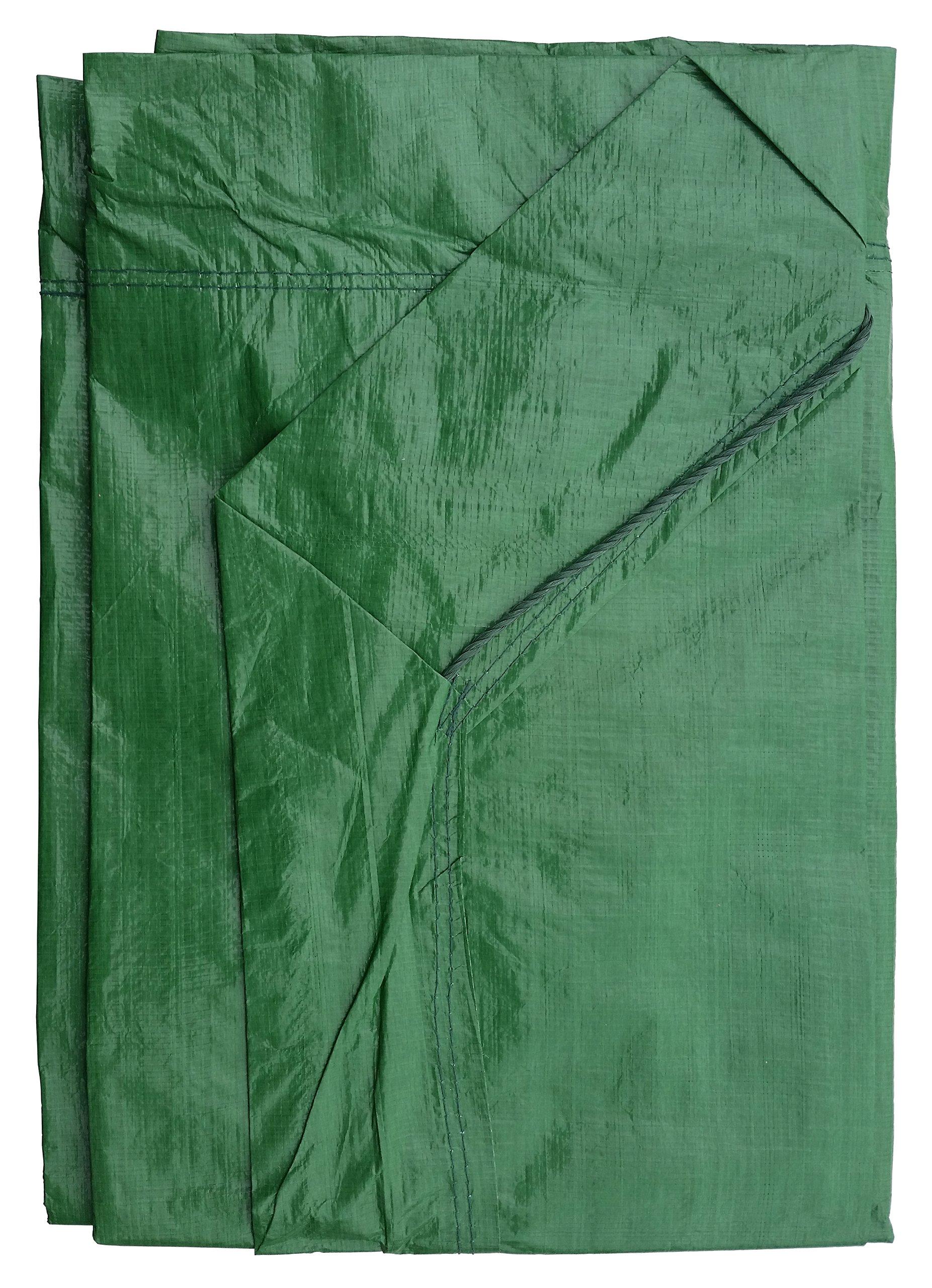 9' x 9' Hunter Green Drawstring Tarp