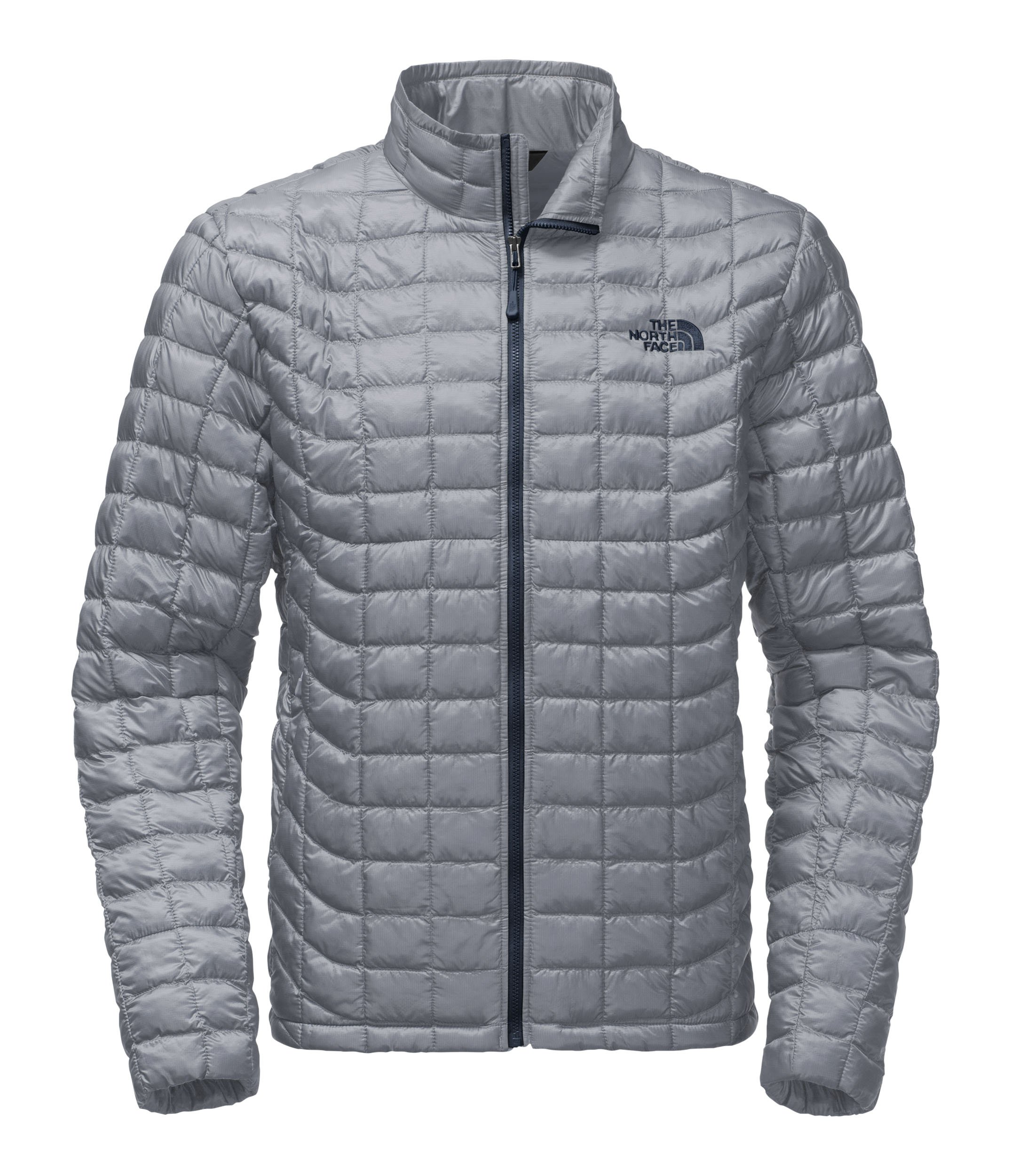 The North Face Men's Thermoball Full Zip Jacket Mid Grey/Urban Navy Size X-Large