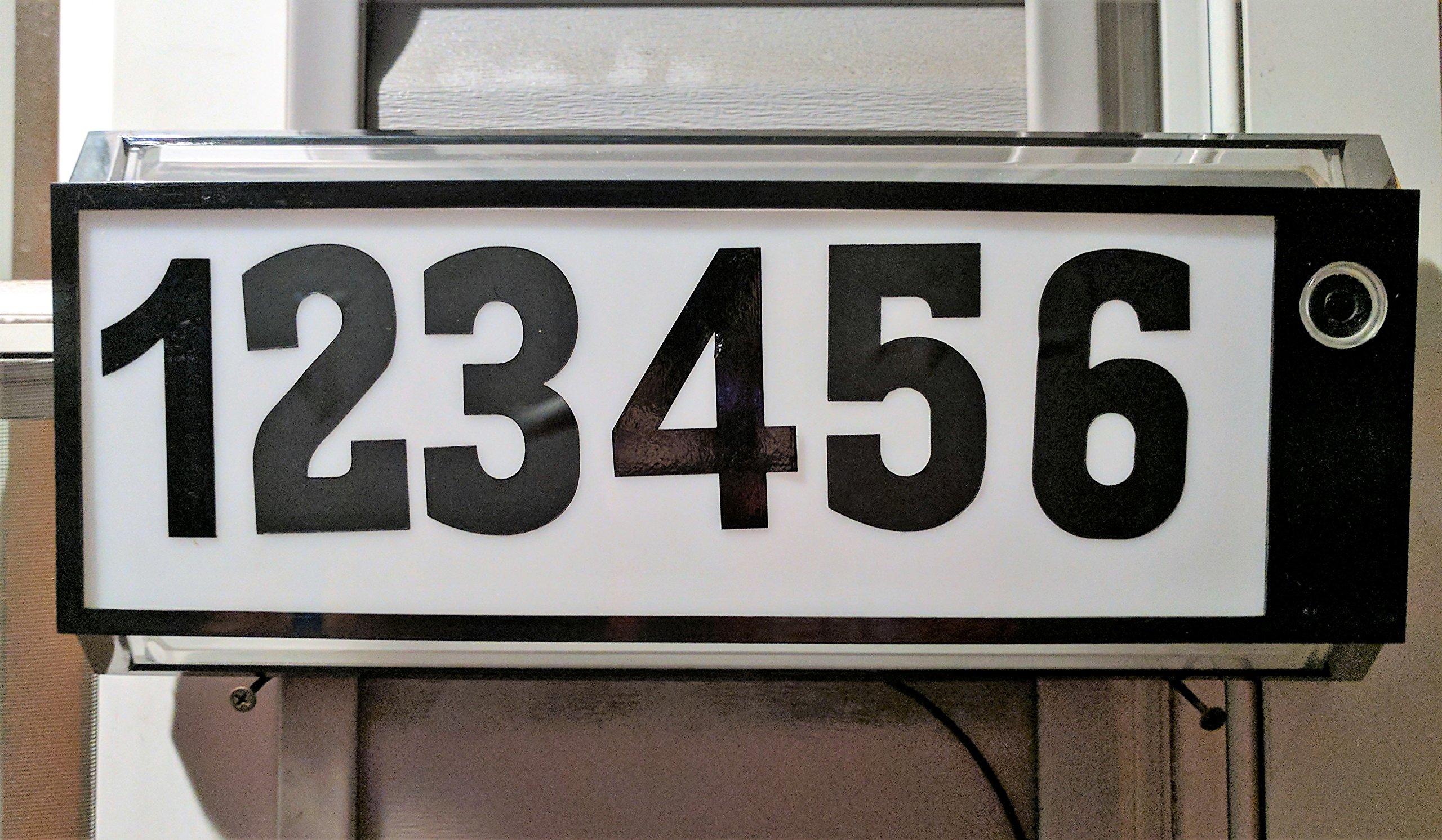 110-120 Volt Illuminated Address Light (Black) by Address Light Store