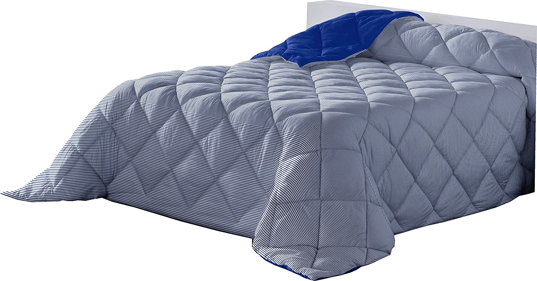 Lucena cantos Couette L/ÍNEA fibra 400 gr Bleu 150 x 270