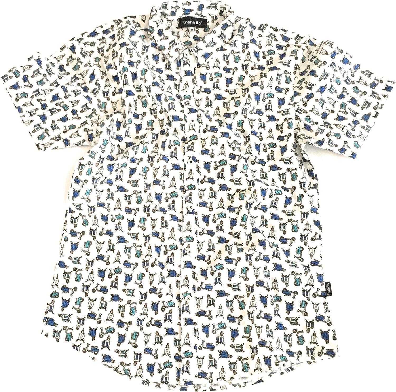 TRANKILO Camisa Vespas minis Blanca. (M): Amazon.es: Ropa y accesorios