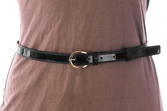 3b42f6ba403 Max Mara Women s Skinny Leather Belt at Amazon Women s Clothing store