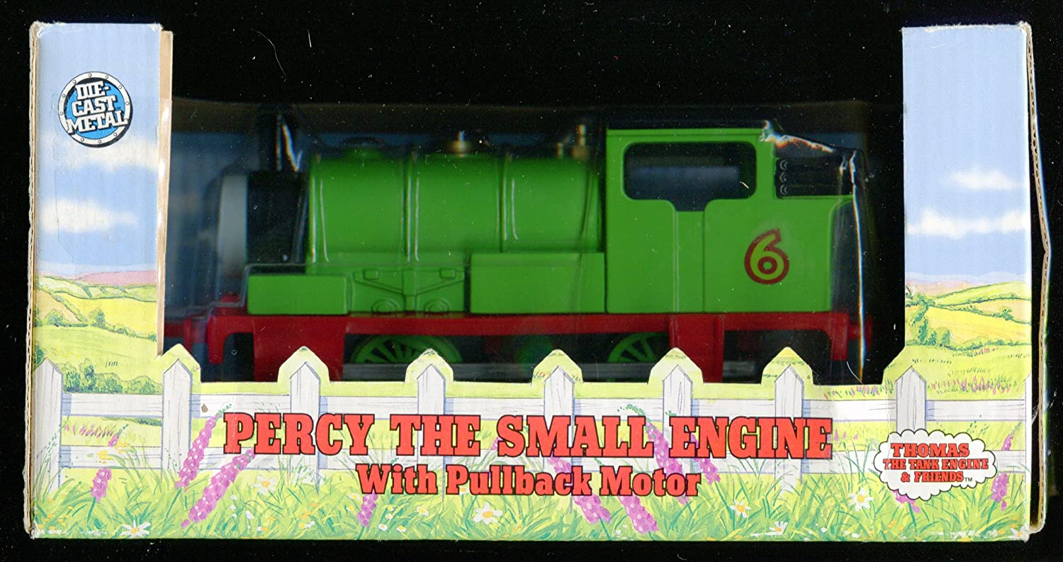 Rare 1992 Percy the Tank Small with Pullback Motor Die Cast Metal Shining Time Station Thomas & Friends 6 1/2 Length by Unknown