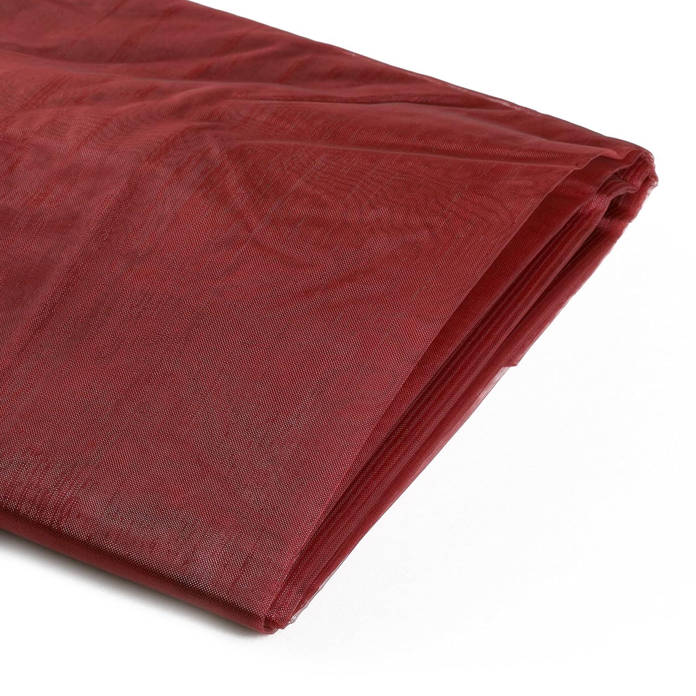 Koyal Wholesale 10-Yard Sheer Organza Fabric Bolt, 58-Inch, Black 403772