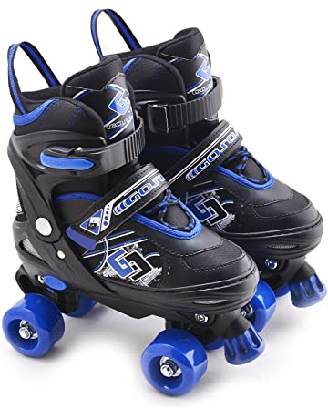 3b2097335164 MTS Childrens Adults Kids Boys Girls 4 Wheel Adjustable Quad Roller Skates  Boots