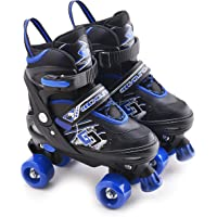 MTS Childrens Adults Kids Boys Girls 4 Wheel Adjustable Quad Roller Skates Boots