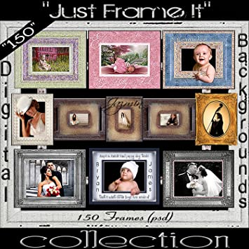 Amazon Com Digital Photo Frames Download Option Studio Portrait Photoshop Templates Borders Edges R Photo Studio Backgrounds Electronics