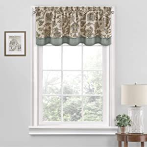 Waverly Arezzo Short Valance Small Window Curtains Bathroom, Living Room and Kitchens, 52