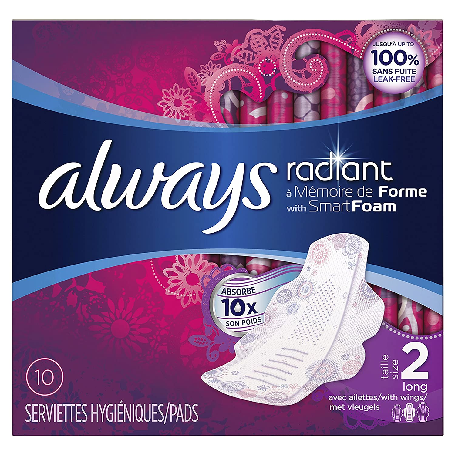 Always Radiant Sanitary Napkins with Wings 83733966