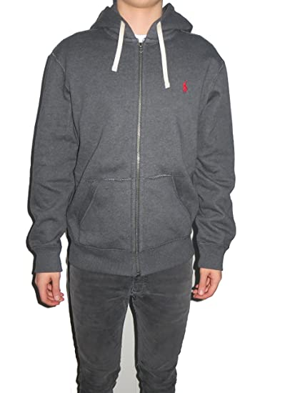 dark grey ralph lauren hoodie