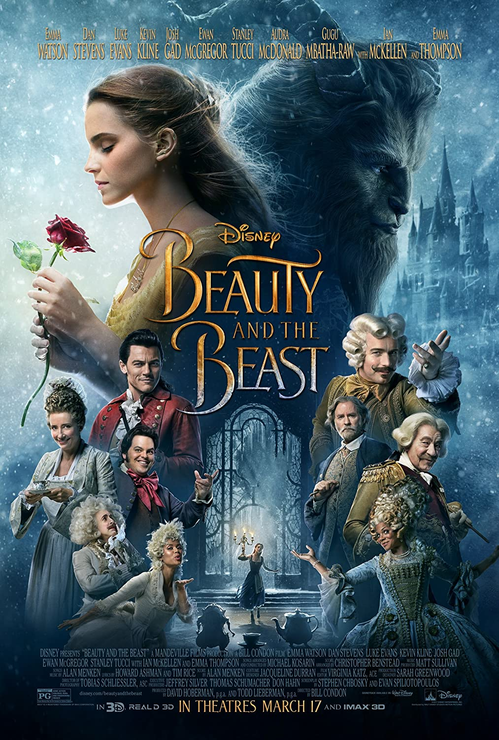 Beauty and the Beast Movie Poster Limited Print Photo Emma Watson Size 27x40 #1