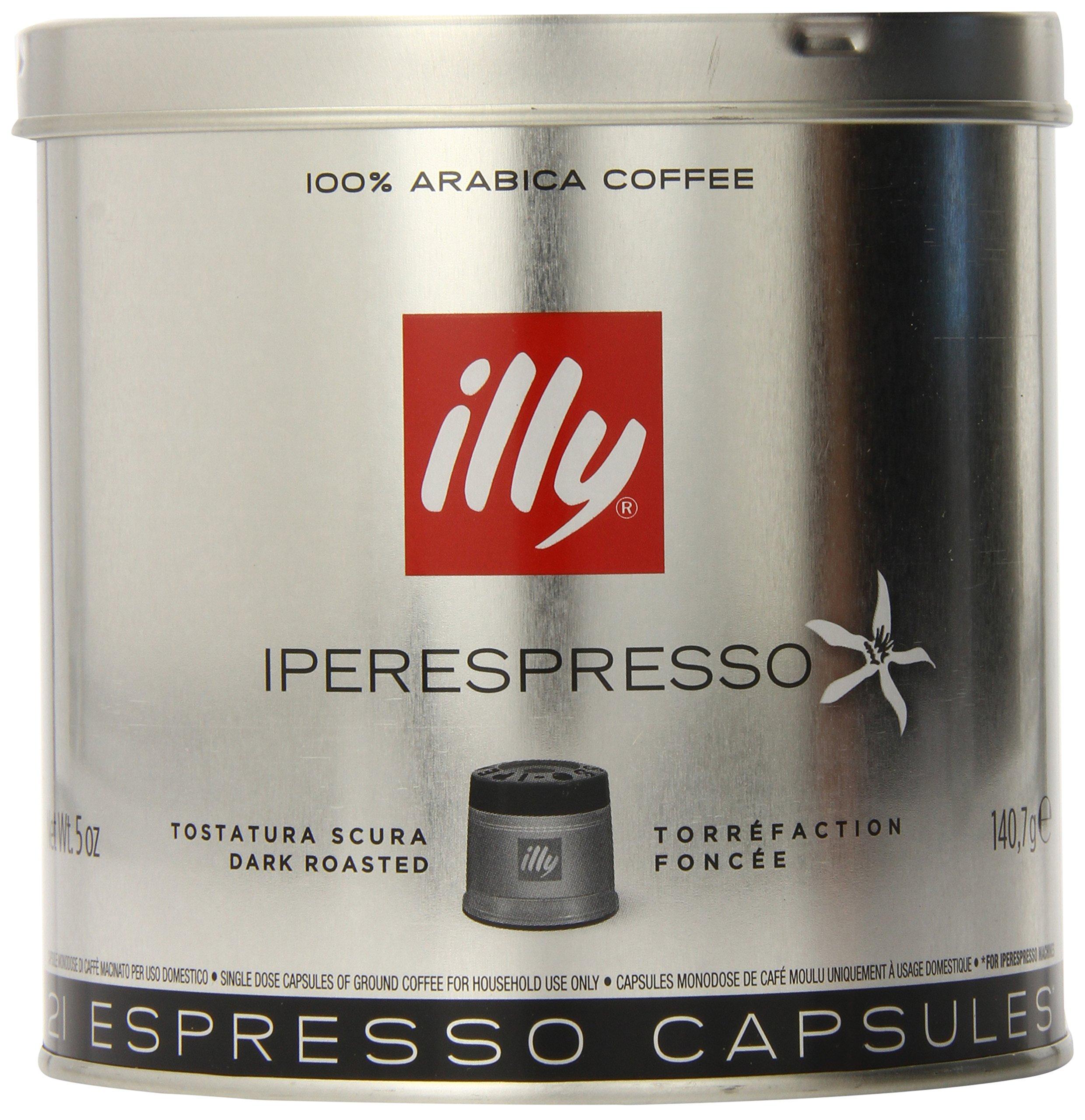 illy Coffee, Intenso iperEspresso Capsule, Dark Roast Espresso Pods, 100% Arabica Bean