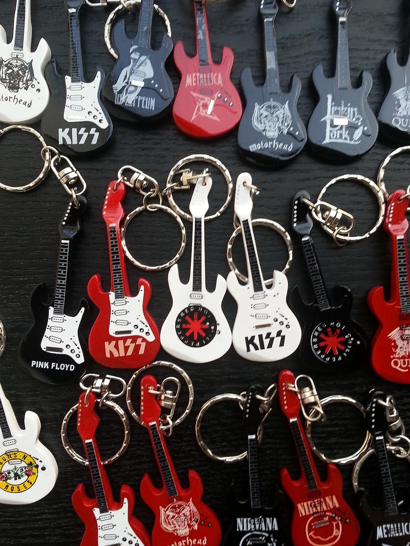 Red Hot Chilli Peppers guitarra Llavero - hecha a mano ...