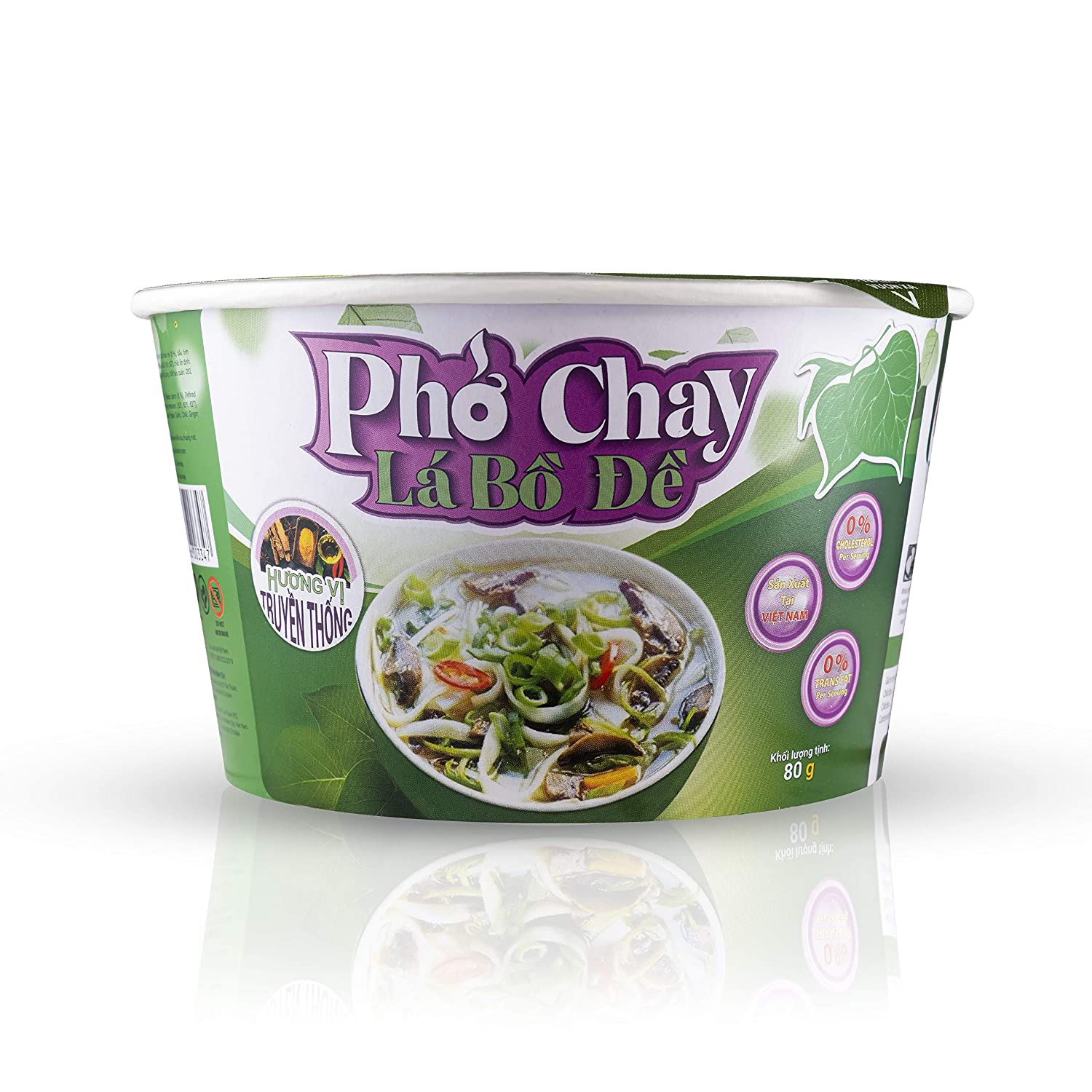 Instant Vegetarian Pho Noodles Bowl (6 pack) by SIMPLY FOOD ( Pho Chay)- 100% Natural, Gluten-Free, and Vegetarian - Made with Premium Rice Ingredients