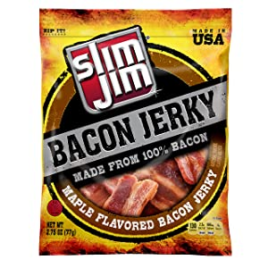 Slim Jim Bacon Jerky, Maple Flavor, 2.75 oz.