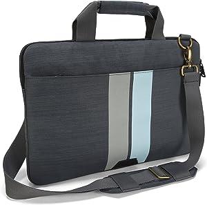 Targus Geo 15.6-Inch Laptop Slip Case, Gray/Black (TSS66704)