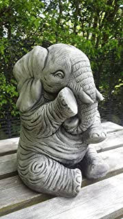 Superieur ONEFOLD   LARGE ELEPHANT TRUNK DOWN HAND CAST STONE GARDEN ORNAMENT /  STATUE / SCULPTURE
