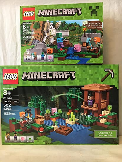 Amazon.com: LEGO Minecraft La bruja Hut & Lego Minecraft La ...