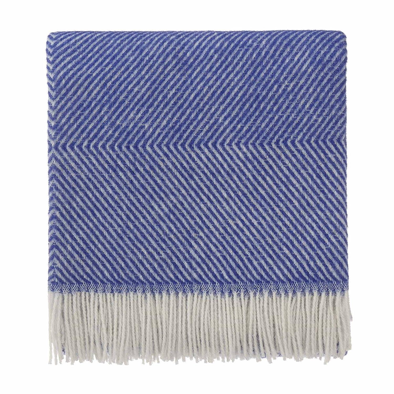 100/% Laine Linen /& Cotton Plaid Couvre-Lit de Luxe Iceland 140 x 200cm Couverture en Laine Gris