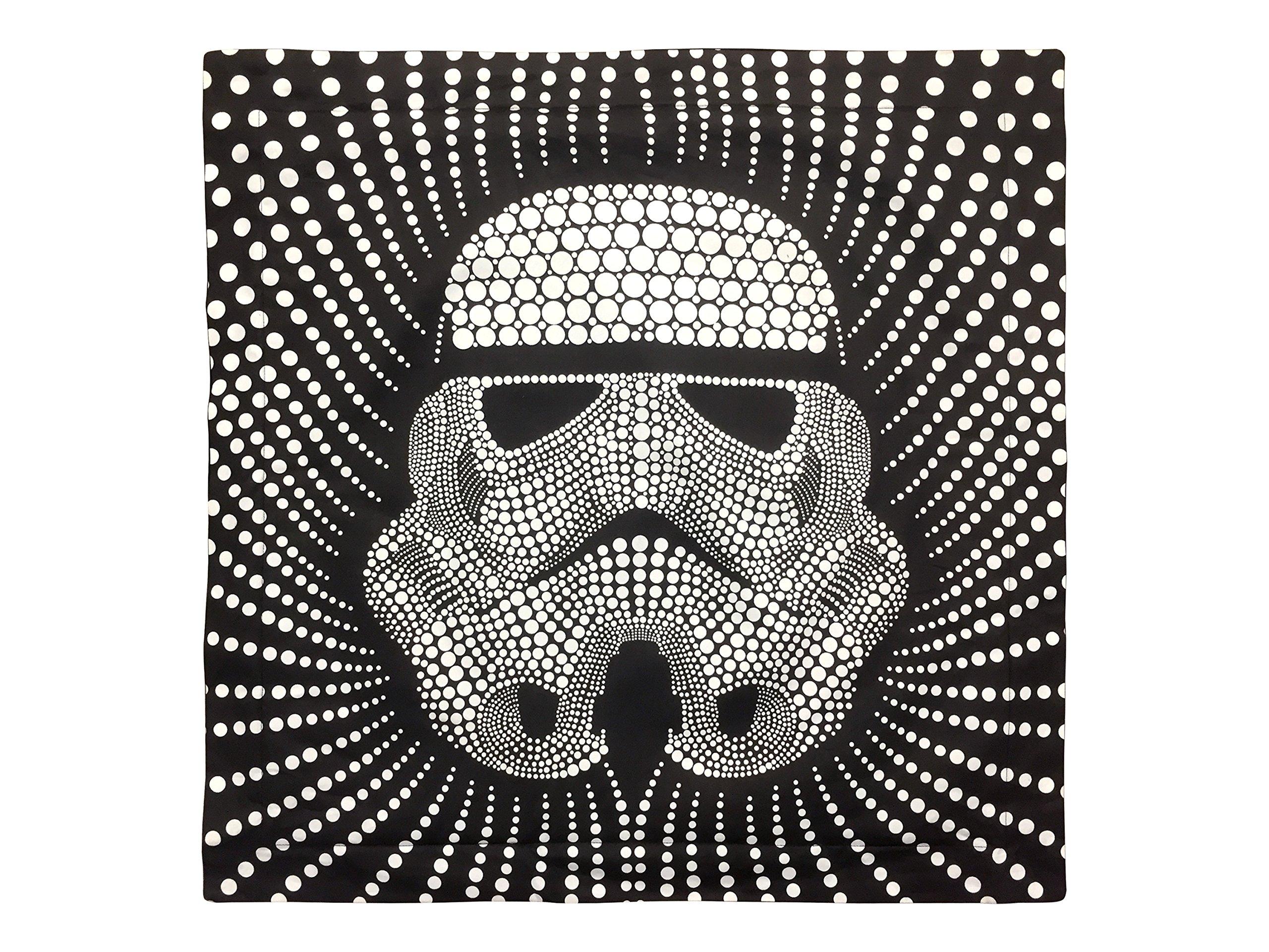 Star Wars Storm Trooper Dots Square 26'' x 26'' Euro Sham with Flange, Black/White