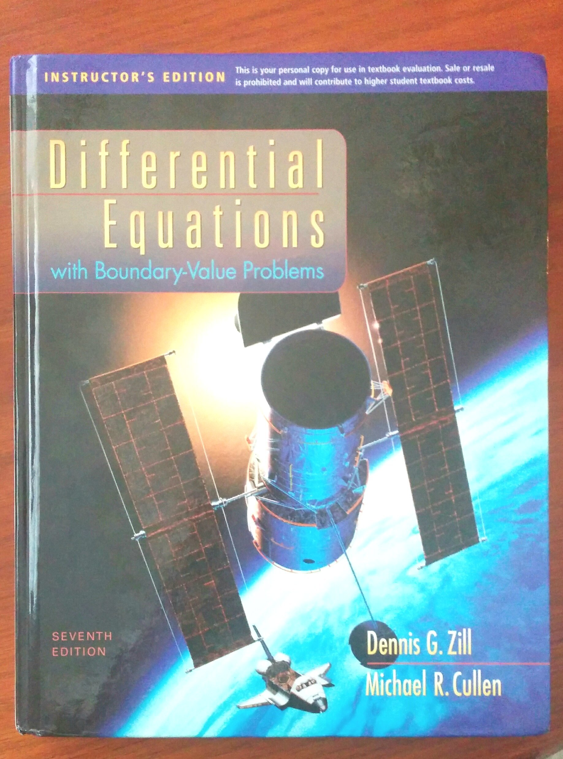 Differential Equations with Boundary-Value Problems Seventh 7th Edition  Instructor's Edition: Dennis G. Zill, Michael R. Cullen: 9780495558781:  Amazon.com: ...
