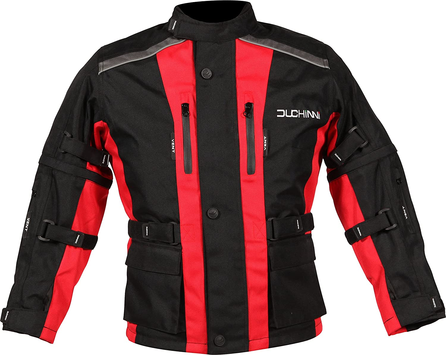 DUCHINNI Unisex-Child JAGO Youth Motorcycle Jacket Red, X-Small