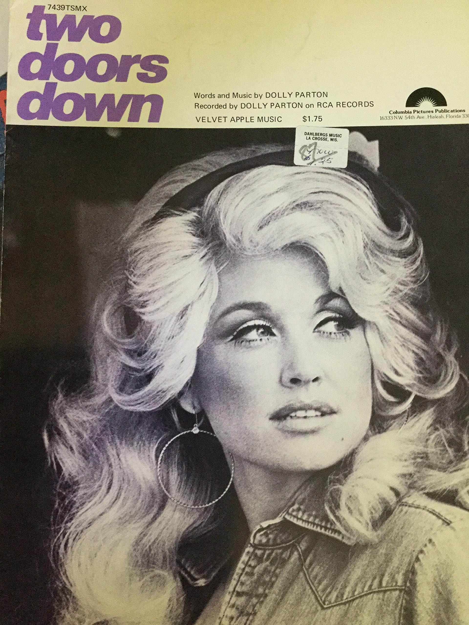 two doors down parton dolly 1978 piano vocal sheet music