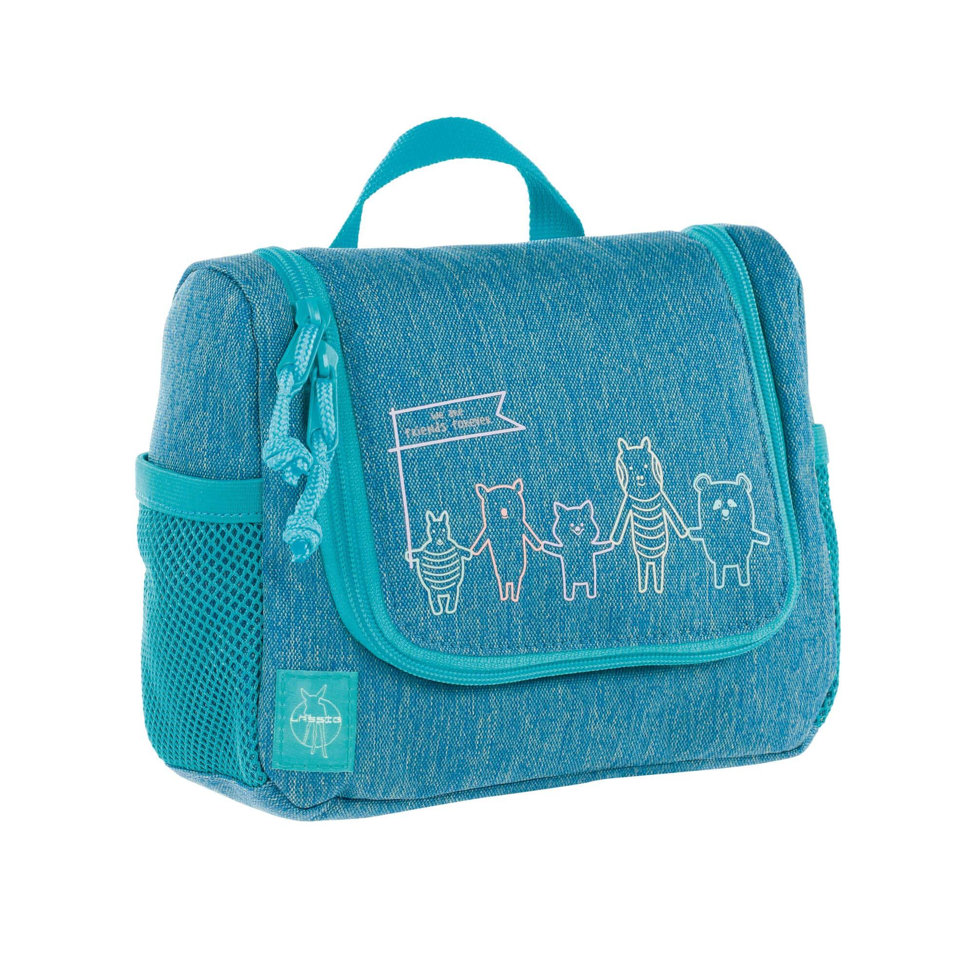 Lässig Mini Washbag, About Friends Mélange Grey