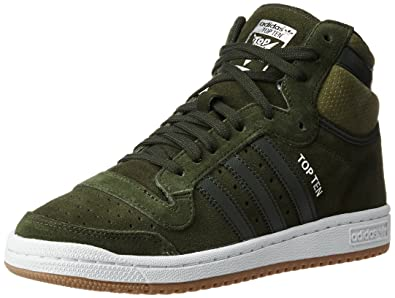 ... france adidas originals mens top ten hi ngtcar and olicar leather basketball  shoes 10 uk 7a40c ... bf4632ed047