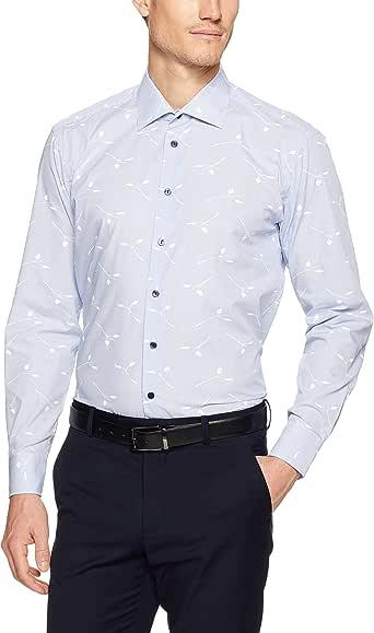 CALVIN KLEIN Slim Fit Business Shirt, Wine, 39cm Neck - 86cm Sleeve