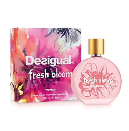 Desigual Fresh Bloom, Agua de tocador para mujeres - 100 ml.