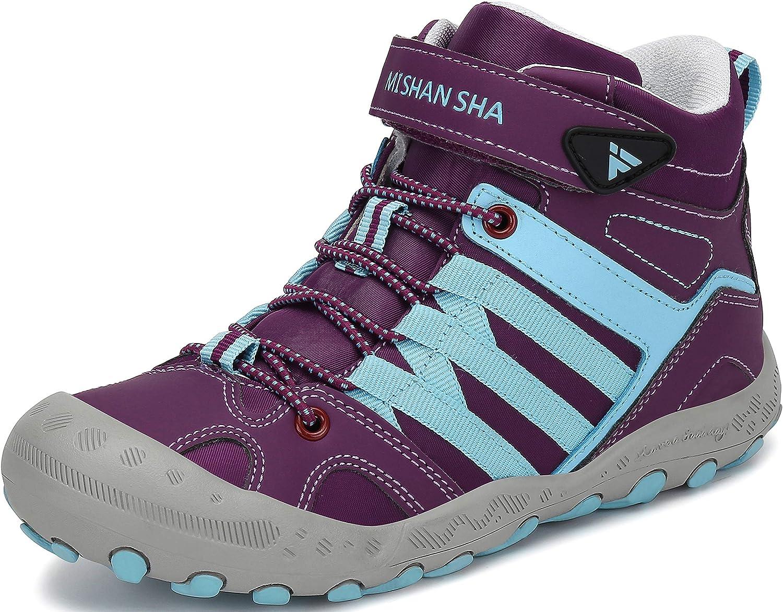 Mishansha Bottes dhiver Gar/çons Filles Bottines Hiver Chaussures Trekking Enfants Bottes