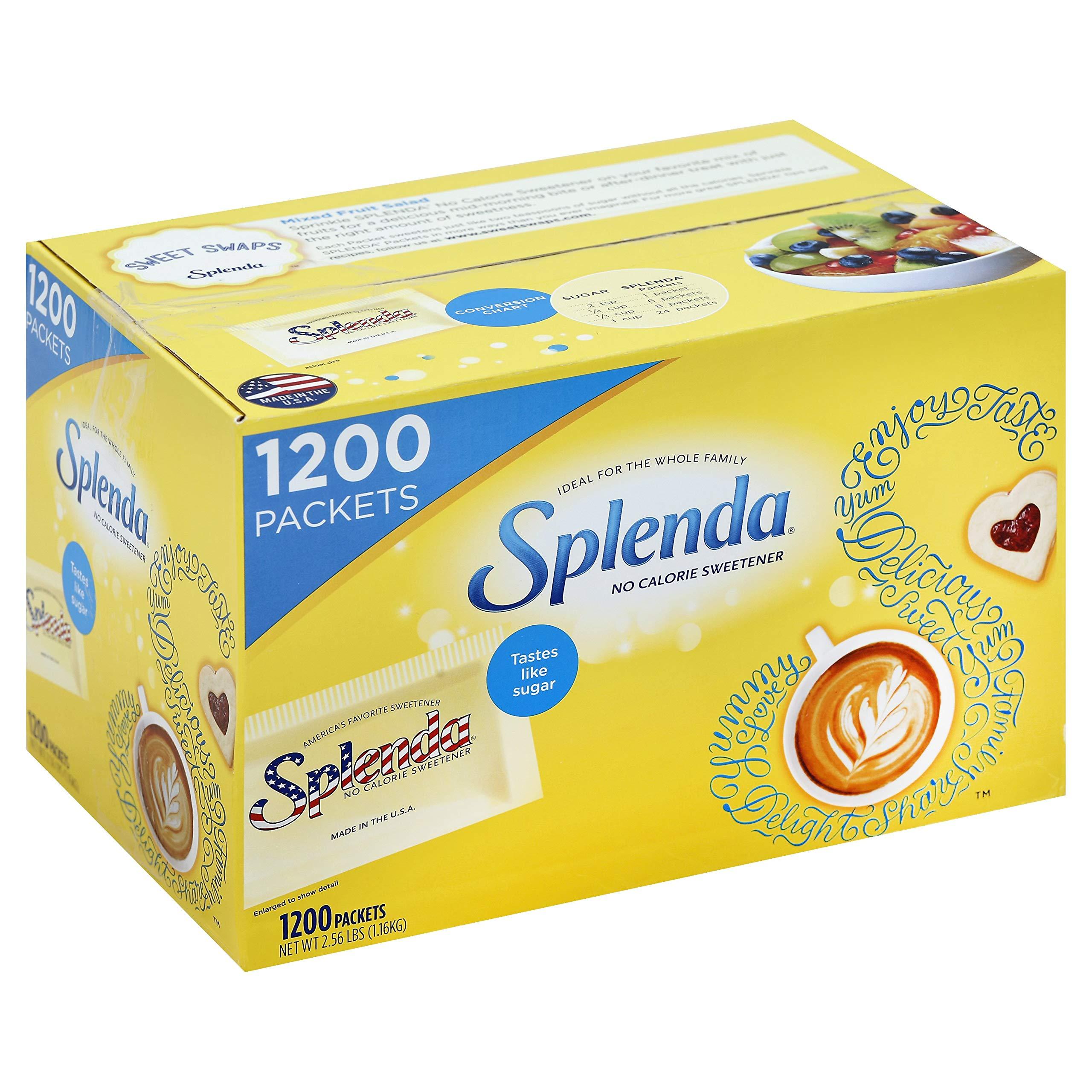 SPLENDA No Calorie Sweetener, Single-Serve Packets (1,200 Count) by Splenda