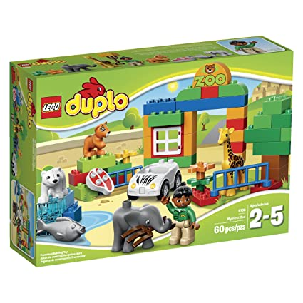 Amazon.com: LEGO DUPLO Town 6136 My First Zoo Building Set: Toys ...