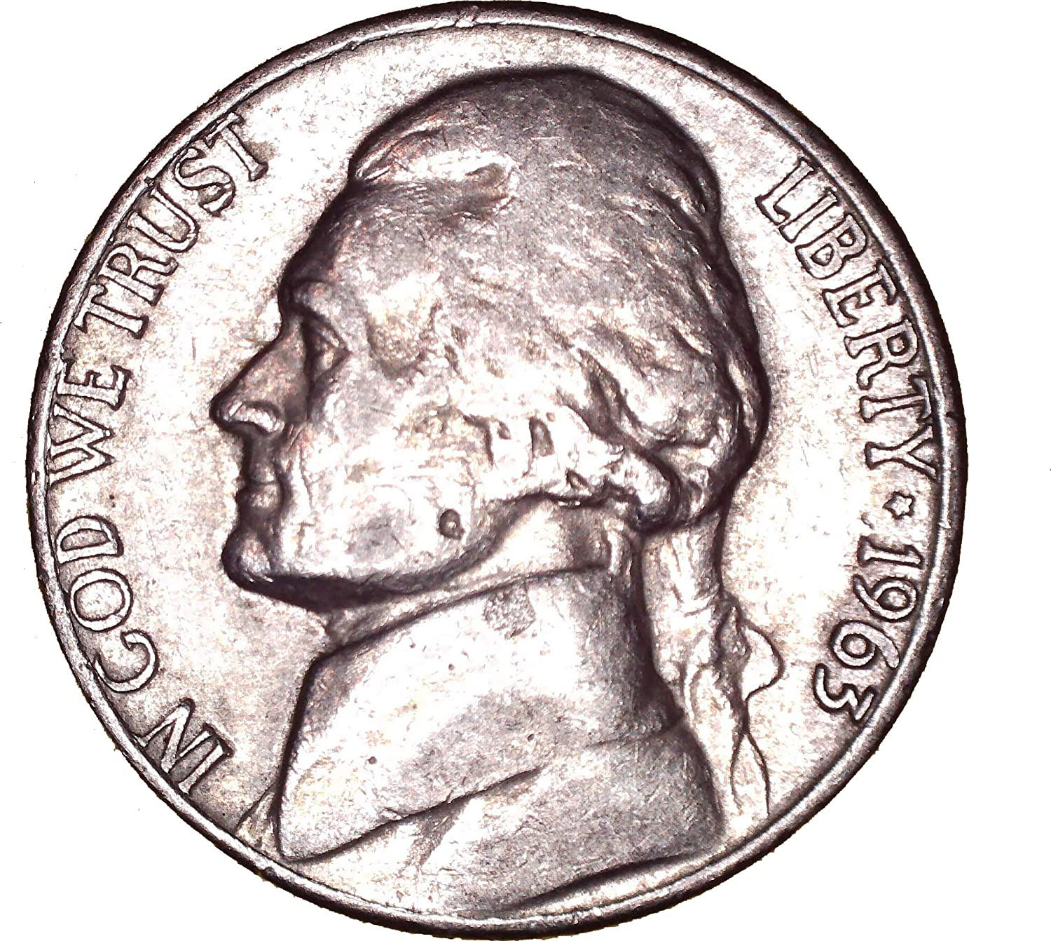 1963 D Jefferson Nickel 5C About Uncirculated at Amazon's