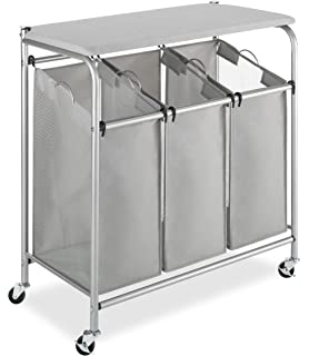 whitmor triple sorter with folding table - Laundry Folding Table