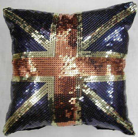 La bandera de Reino Unido con diseño de lentejuelas y diseño ...
