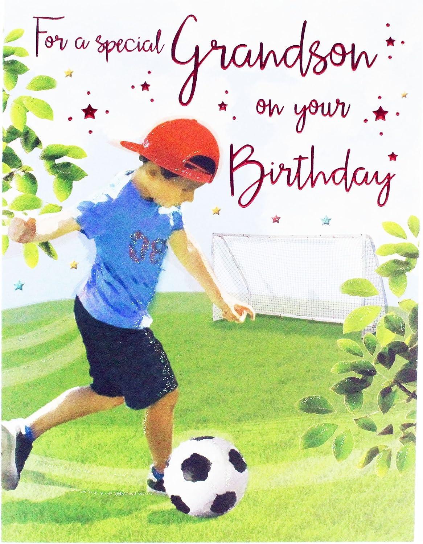 Carte spéciale pour petit-fils Petit Fils Anniversaire Carte Spéciale-GRANSON Carte de vœux