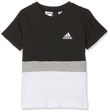 Adidas SID FL Camiseta, Niños, Negro/Blanco (Gris), 164-
