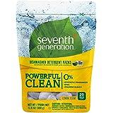 Seventh Generation Lemon Dishwasher Detergent Packs, 20 Count