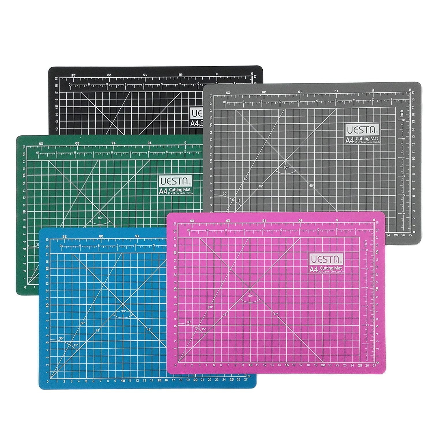 UESTA A3 (18L x 12W Inch) (450 x 300 mm) Self Healing 5 Layers PVC Colorful Cutting Mat (Green) Yuen Young Plastics Co. Ltd