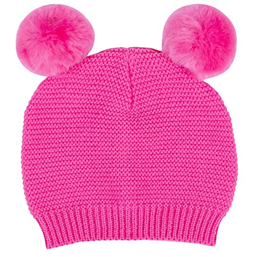 53ef7f9f7 Amazon.com: Waddle Baby Girls Cute Pom Pom Beanie Cap Favorite Knit ...
