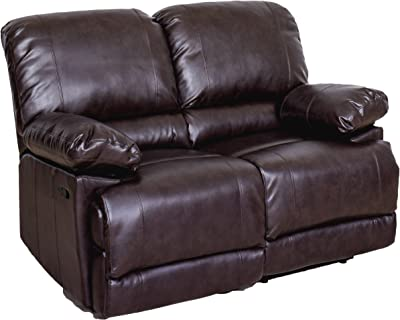 CorLiving LZY-341-L Lea Collection Loveseat, Chocolate Brown