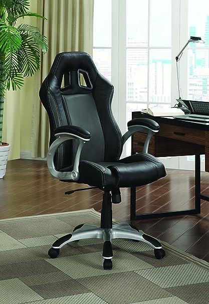 Coaster Contemporary Black/Grey Office Chair with Air Ventilation & Amazon.com: Coaster Contemporary Black/Grey Office Chair with Air ...